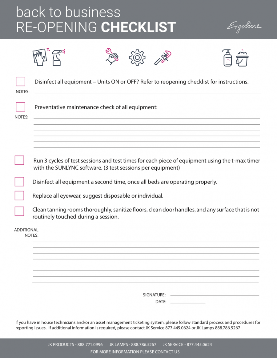 Reopening checklist 1